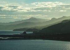 Otago dusk. Astmospheric dusk on the Otago peninsular in New Zealand Royalty Free Stock Image