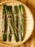 Otah picante asiático del otah de la croqueta de pescados Imagen de archivo