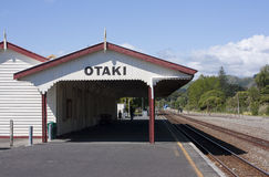 Otaki Train Station, New Zealand Royalty Free Stock Photos