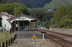 Otaki Train Station, New Zealand Stock Photography