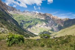 Otal valley. Pyrenees Spain. Otal valley is a high mountain valley of the Huesca Pyrenees Spain located in the region of Sobrarbe, tributary of the valley of Royalty Free Stock Photography