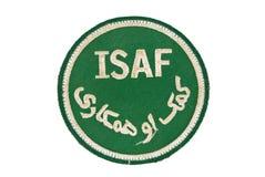 OTAN Afganistán de la corrección de las insignias de ISAF imagen de archivo libre de regalías