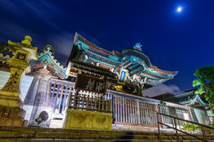 Otani Hombyo temple in Kyoto at night, Japan Royalty Free Stock Images