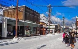 OTARU, ЯПОНИЯ -12 декабрь 2016 - красивые здания в Otaru, популярное туристское назначение архитектуры близко к Саппоро на остров Стоковые Фото