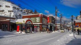 OTARU, ЯПОНИЯ -12 декабрь 2016 - красивые здания в Otaru, популярное туристское назначение архитектуры близко к Саппоро на остров Стоковое Фото