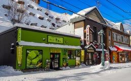 OTARU, ЯПОНИЯ -12 декабрь 2016 - красивые здания в Otaru, популярное туристское назначение архитектуры близко к Саппоро на остров Стоковое Изображение
