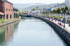 OTARU, ЯПОНИЯ - 18-ое мая 2015: Канал Otaru Стоковая Фотография