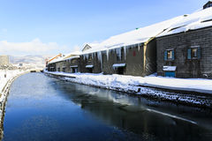 Otaru Canal at day Royalty Free Stock Image