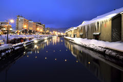 Otaru Canal. Otaru light path Festival, Hokkaido Prefecture Japan Royalty Free Stock Photography