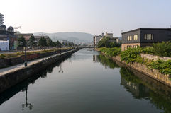Otaru canal scene. During the day in Otaru, Japan. Taken during summer royalty free stock photography