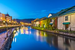 Otaru Canals royalty free stock photography