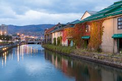 Otaru canel in Japan at night Stock Photo