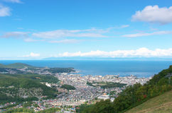 Otaru city view form Mt.Tengu Stock Image
