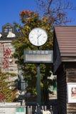 Otaru, Giappone - 19 ottobre 2017: L'orologio al turista inf di Otaru Fotografia Stock Libera da Diritti