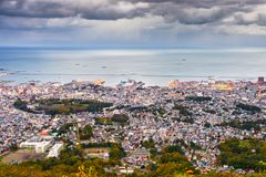 Otaru, Hokkaido, Japan Town Skyline royalty free stock photo