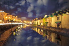 Otaru, Japan historic canal and warehousedistrict Royalty Free Stock Photo