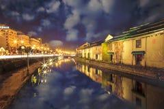 Otaru, Japan historisk kanal och warehousedistrict Royaltyfri Foto