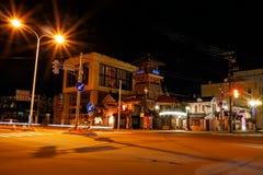 Otaru, Japan - 26. Juli 2017: Populärer touristischer Bestimmungsort des Otaru-Stadtzentrums nachts Stockfotos