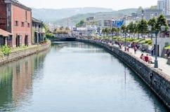 OTARU, JAPONIA - 18 2015 Maj: Otaru kanał fotografia stock