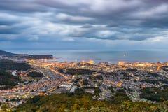 Otaru, Japonia miasteczko linia horyzontu Zdjęcia Royalty Free