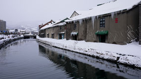 Otaru kanał w zimie - hokkaido, Japonia Fotografia Stock