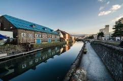Otaru kanal Fotografering för Bildbyråer