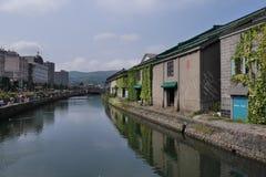Otaru kanal, Hokkiado, Japan arkivbild
