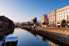 Otaru kanal i morgonen royaltyfri fotografi