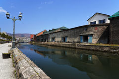 Otaru kanal och lager, Hokkaido Arkivfoton