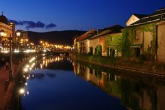 Otaru river side stock photography