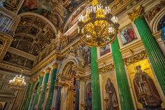 Ołtarz w świętego Isaac katedrze petersburg Rosji st Fotografia Stock
