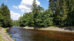 Otava-Fluss, Tschechische Republik stockfotos