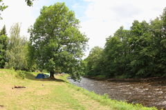 Otava-Fluss, Tschechische Republik lizenzfreie stockfotos