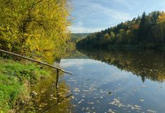 Otava River royalty free stock images