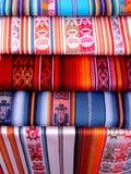 Otavalo Culture 01. Ecuadorian Blankets from Otavalo ecuador south america Stock Image