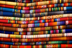 Otavalo-Decken Stockbild