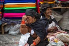 Indigenous Quechua women in Ecuador Stock Images