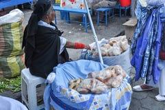 Otavalomarkt in Ecuador royalty-vrije stock foto