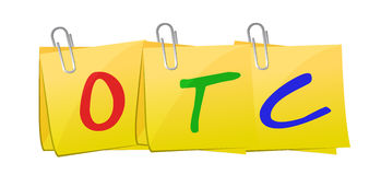 OTC notatki poczta projekta ilustracyjna grafika Zdjęcia Stock