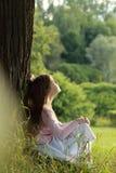 Otdoor portrait of little girl Stock Image