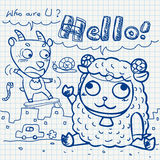 Otebook paper doodles Stock Photography