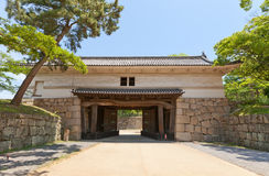Oteichinomon Gate (1670) of Marugame castle, Japan Stock Photos