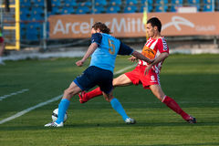Otelul Galati - Poli Iasi football match Stock Photography