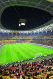 Otelul Galati vs. Mancester Utd. on National Arena Stock Image