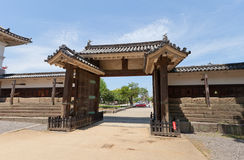 Oteninomon Gate (1670) of Marugame castle, Japan Royalty Free Stock Photography
