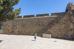 Othello Castle in Haven van Famagusta cyprus stock fotografie