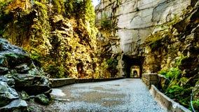 Othello Tunnels, in de Coquihalla-Canion, dichtbij de stad van Hoop, Brits Colombia, stock afbeeldingen