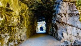 Othello Tunnels, in de Coquihalla-Canion, dichtbij de stad van Hoop, Brits Colombia, stock afbeelding