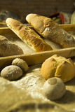 Other bread. View of some types of Italian bread during the production Royalty Free Stock Images