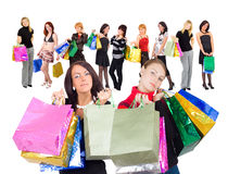 Other and daughter shopping Royalty Free Stock Photos